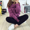 Woman Turtleneck Sweaters Casual 2015 New Winter Warm Sweater Korean Style Women's Knitted Pullovers Female Clothing