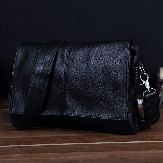 MAGIC UNION Men Leather Shoulder Bag Envelope Style Bag Large-capacity Messenger Bags High Quality Men's Leather Handbags 3