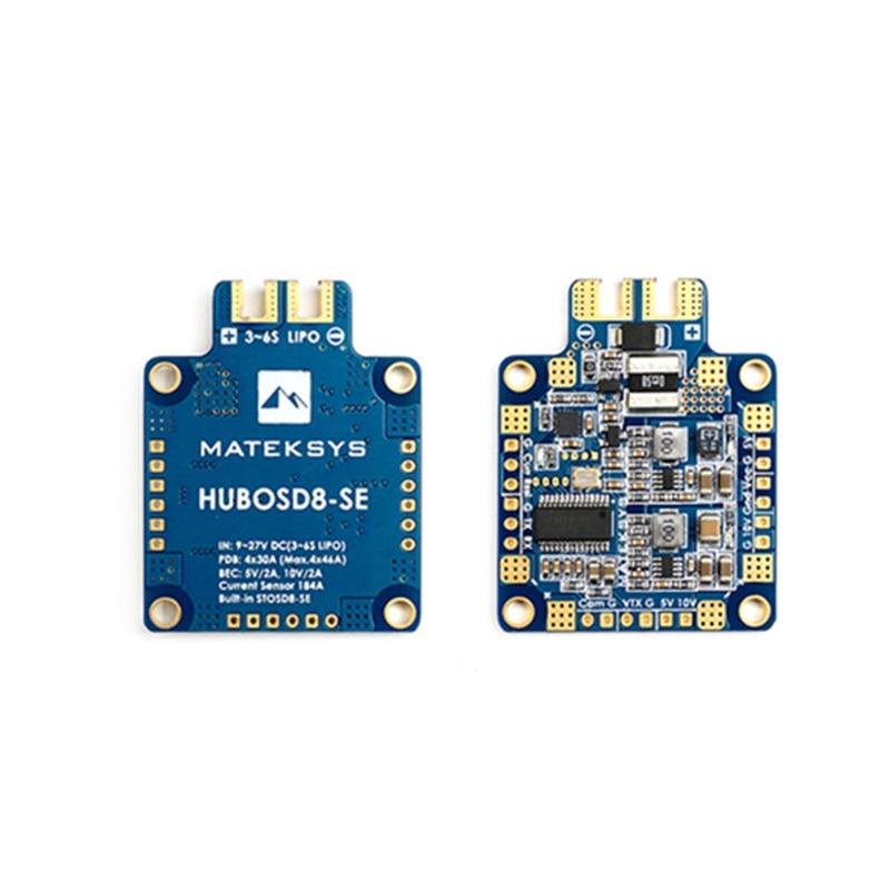 High Quality Matek Systems HUBOSD8-SE 9-27V PDB W/ STOSD8-SE 5V&10V Dual BEC For RC Multirotors