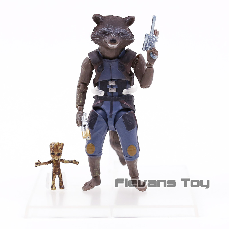 Avengers Infinity War SHF S.H.Figuarts Rocket Raccoon & Tree Man PVC Action Figure Collectible Model Toy