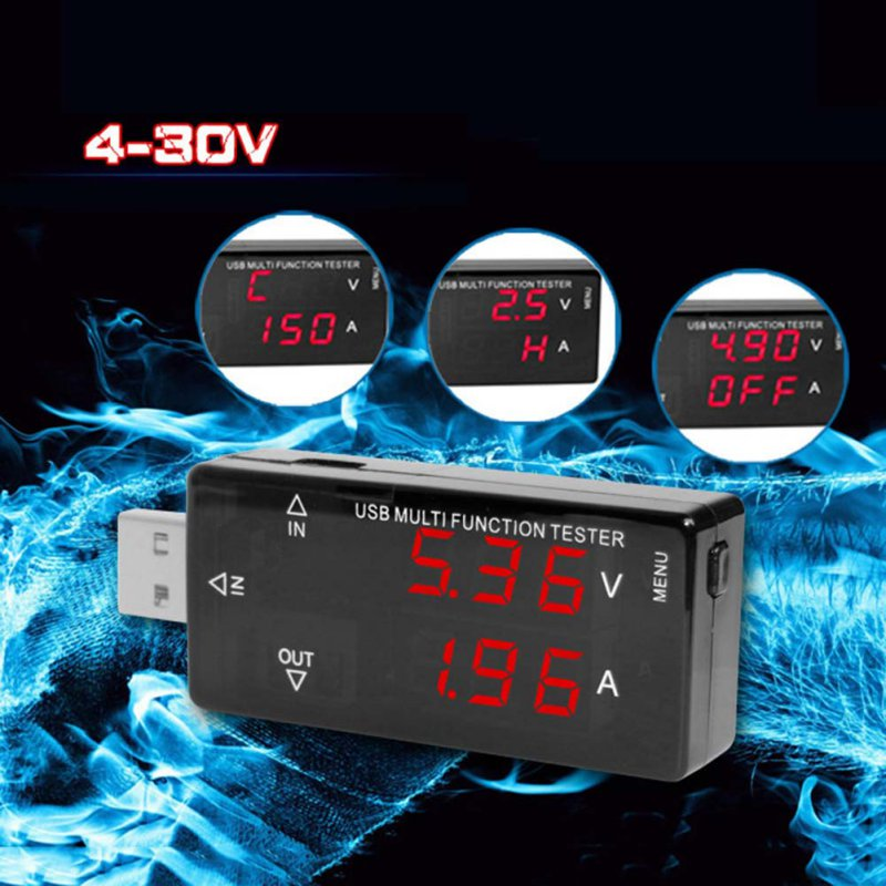 USB Multi Function Tester USB Current Voltage Charger Detector battery Tester Voltmeter Ammeter H7 usb current voltage charging detector mobile power current and voltmeter ammeter voltage usb charger tester double row shows h7