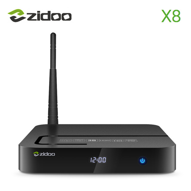 ZIDOO X8 Android 6.0 Caixa de TV Realtek RTD1295 Quad-Core 2 GB/8 GB HDMI OUT/IN BT 4.0 5.845 GHz WIFI IPTV Smart TV KODI Media jogador