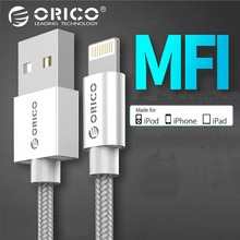 ORICO MFi Lighting USB Cable for iPhone Xs Max 8 7 6 Plus 2.4A Fast Charging Data Lighting Cable for iPhone 5s USB Charger Cord