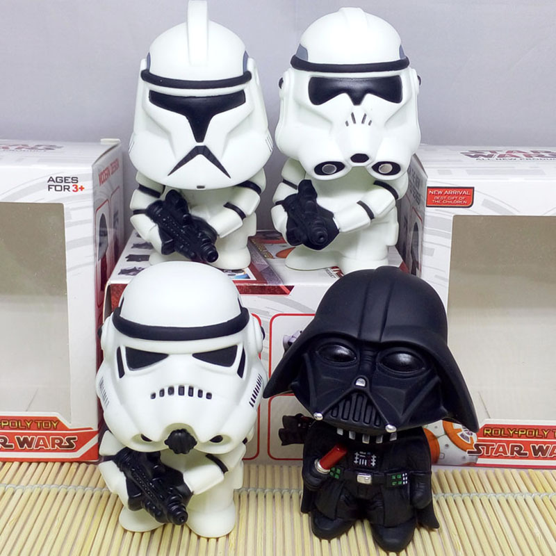 Hot sale 4 kinds of arms Star Wars Figures toy Rotatable head 10cm Doll Car Decoration Action Figure PVC Toy Model Gift for Kids new hot christmas gift 21inch 52cm bearbrick be rbrick fashion toy pvc action figure collectible model toy decoration
