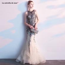 Abendkleider Lang ใหม่ Tulle คริสตัลแชมเปญหรูเซ็กซี่ Mermaid ตุรกีชุดราตรีหรูหรา vestido Longo Festa noite custo