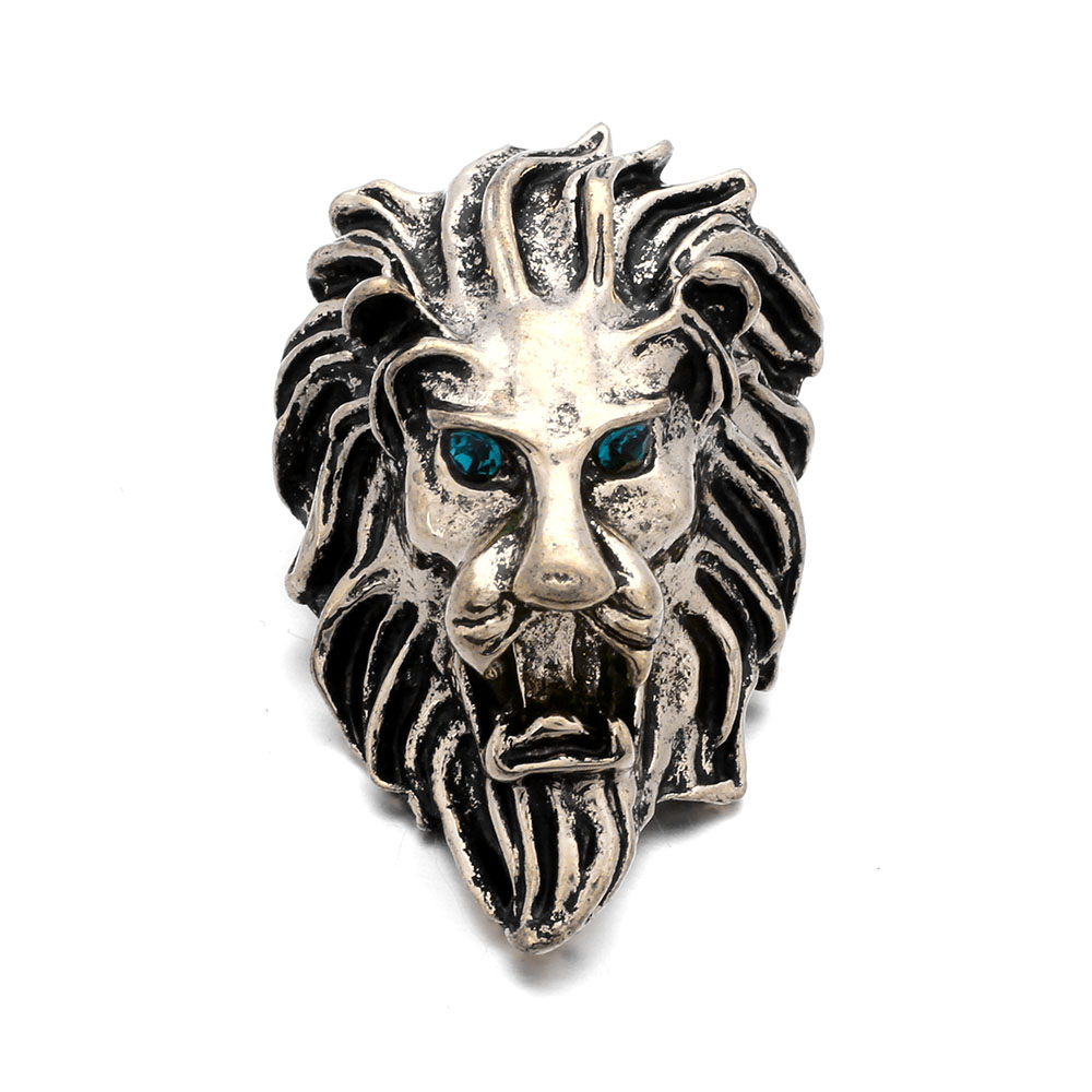 10Pcs/lot 18mm DIY Roaring Lion Head Metal Snap Button Bracelet Fashion DIY Jewelry For Charm Watches Women