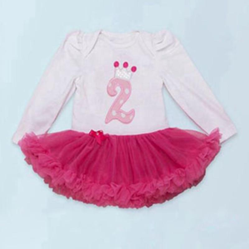 2nd Birthday Dress Romper Baby Girl Clothes Toddler Birthday Tutu Outfits for Girls Anniversaire Fille Vestido De Festa Infantil