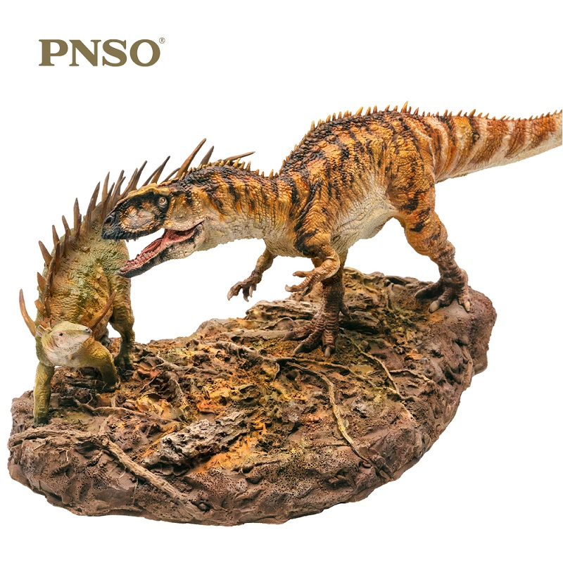 PNSO 2Pcs set Dinosaurs Yangchuanosaurus Chungkingosaurus 1 35 Scientific Animal Models