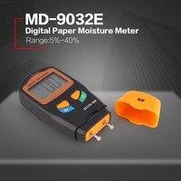 MD 9032E Digital LCD Paper Moisture Humidity Meter Analyzer Hygrometer Timber Damp Detector Tester Range 5% 40%
