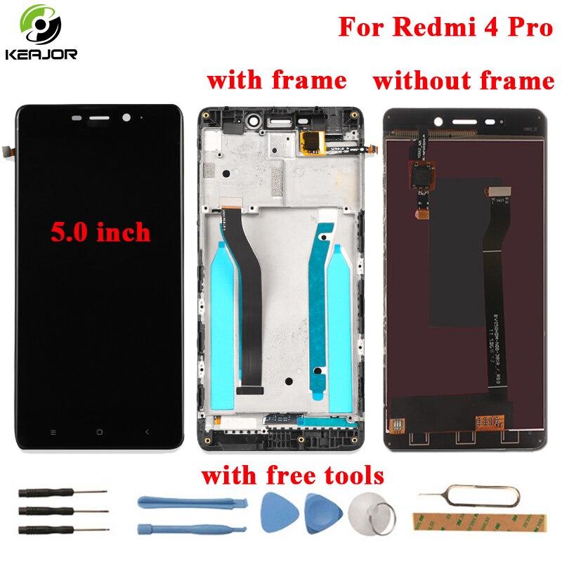 Für Xiaomi Redmi 4 Pro LCD Display + Touch Screen + Rahmen FHD Werkzeuge Glas Panel Digitizer ersatz Für Xiaomi redmi 4 Pro 5,0 zoll