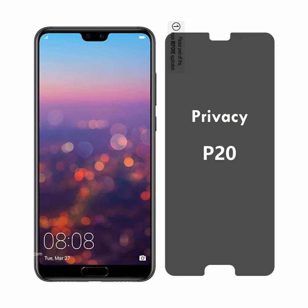 Антишпионское стекло для Huawei P20 Pro, закаленное стекло для защиты экрана для Huawei P20 Lite, Антибликовая стеклянная пленка для p20