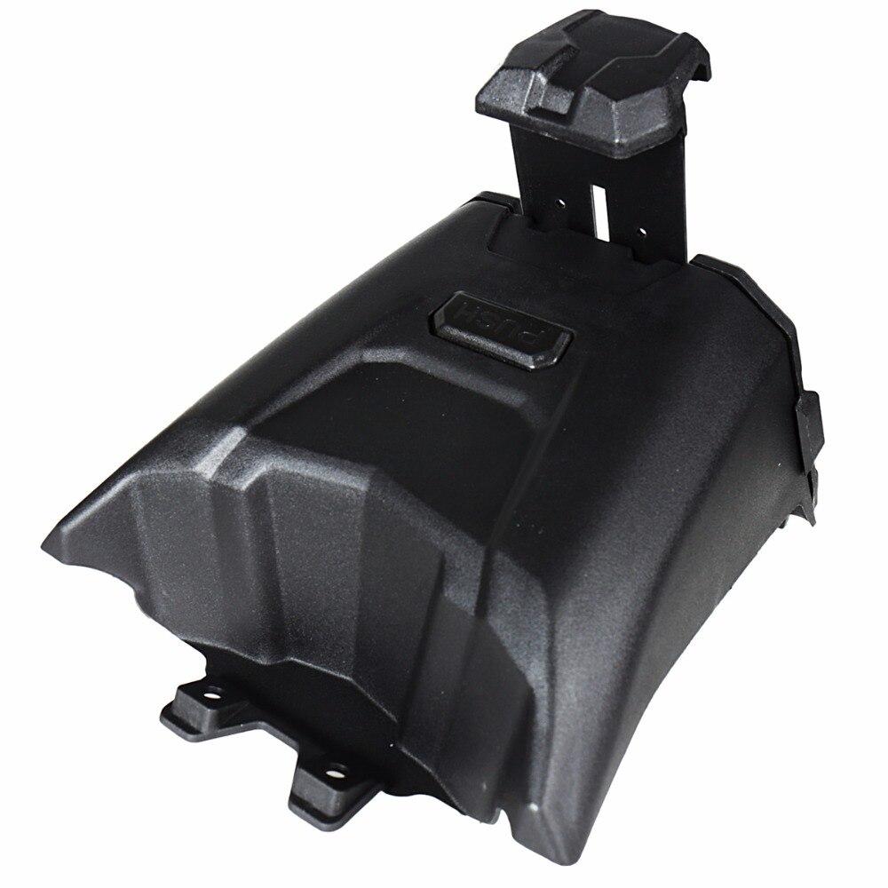 Soporte de dispositivo electrónico negro con almacenamiento integrado para modelos Can Am Maverick X3 de 2017 2018 - 4