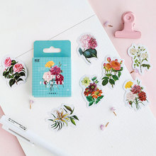 46 pcs/box vintage flower mini paper sticker decoration stickers DIY ablum diary scrapbooking label kawaii stationery
