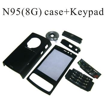 12dabd4849f Para Nokia N95 8G vivienda frente placa frontal cubierta de Marco + cubierta/puerta  de la batería + teclado