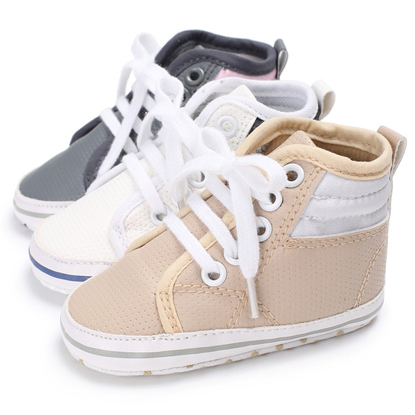 90b0d3b2d Branded Baby Shoes Boy Girl High Top Shoe Infant Newborn Soft Casual Leather  Shoes Children Booties Bebe Sapatos Sport Sneakers