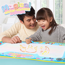 Water Toys For Boys 68*38CM Doodle Mat With Play Pen EVA Rubber Crafts Magic Water Drawing Aqua Mat Arts And Crafts For Kids(China)