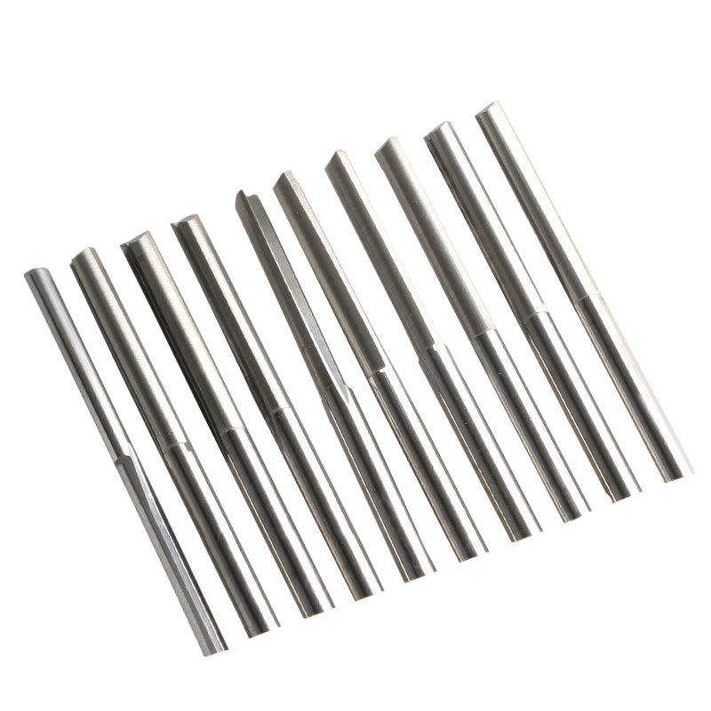10pcs 3.175*3.0*22mm 2 Flute Straight Knife CNC Router Bits, Cutters On Wood, Carving Foam, Plywood, MDF,PVC