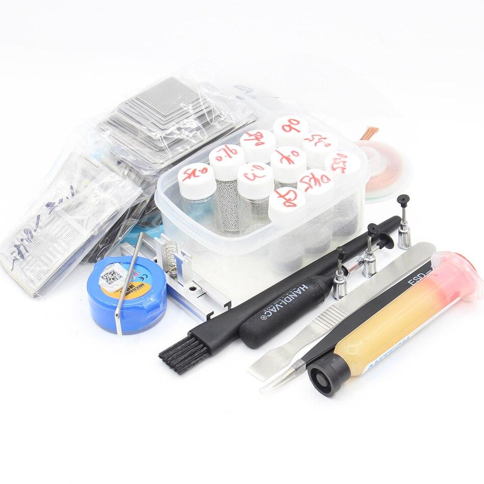 New Upgrade 715 model BGA Stencil Bga Reballing Stencil Kit with direct heating Reballing station 10