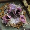 3 шт. установить новый невесты цветок аксессуары для волос фиолетовый головные уборы свадебные украшения ручной работы заколки старинные жемчужные аксессуары