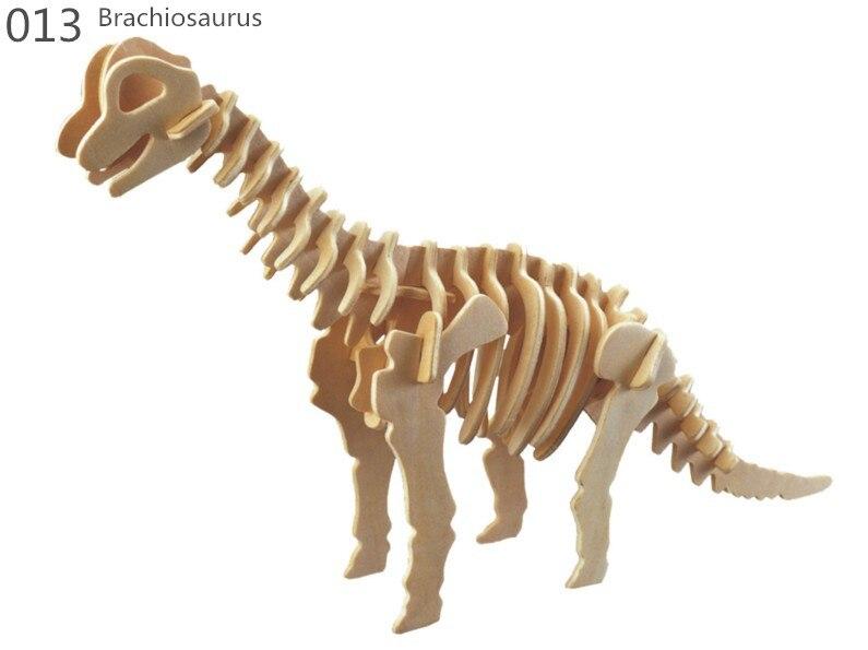 Dinosaur 3D Taxta Puzzle DIY Simulyasiya Model Uşaq Təhsil - Bulmacalar - Fotoqrafiya 6