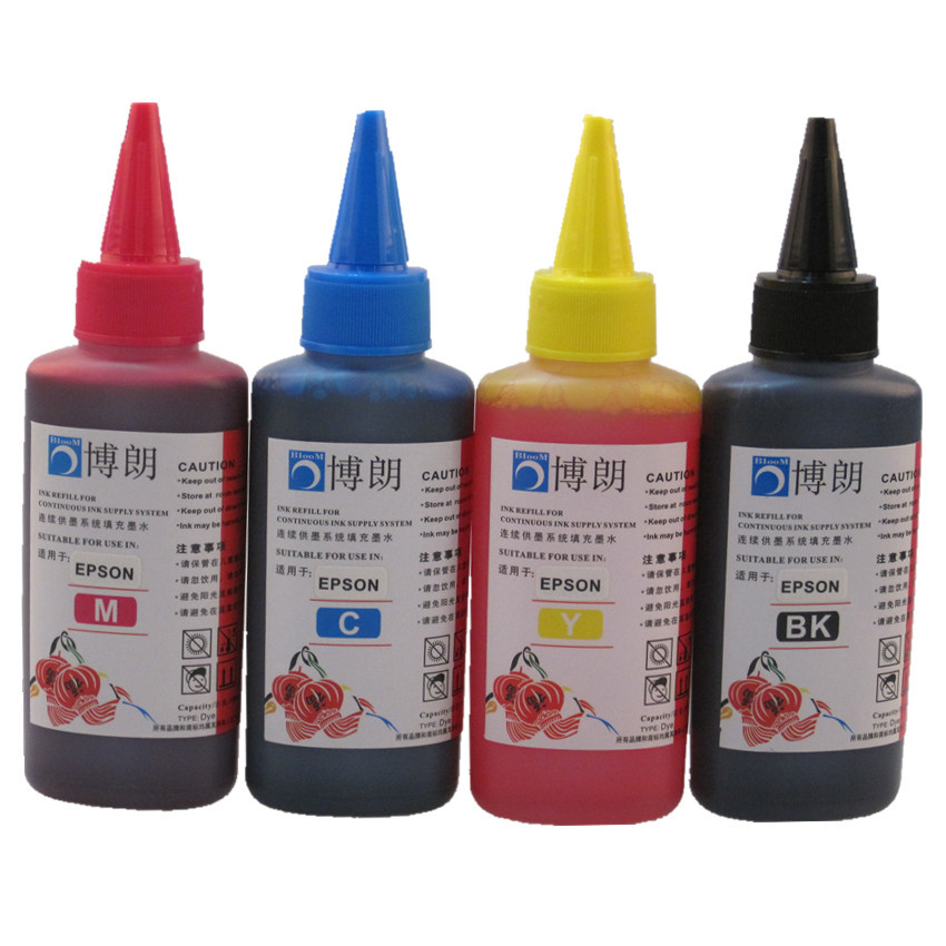 Universal 4 Farbe Dye-tinte Für EPSON Drucker Premium 100 ML 4 farbe Tinte BK C M Y für EPSON alle drucker ciss tinte