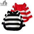 Retail 0-4 years knitted sweaters cartoon bear striped kids children Clothes Infant Garment spring autumn fall