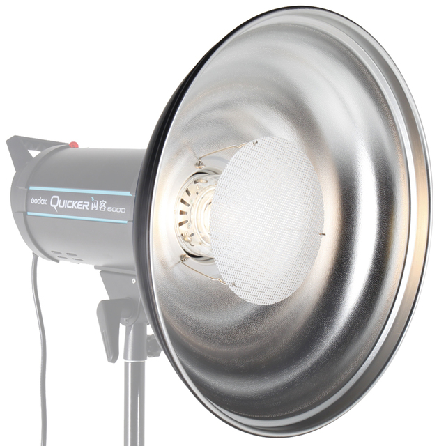 ASHANKS 55cm/ 21.7 Inch Waved Beauty Dish Reflector with Honeycomb Soft Cloth Two Mini Reflectors for Bowens Strobe Flash Light