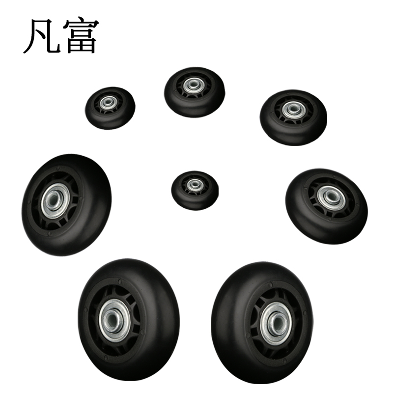 Replacement Suitcase Wheels Luggage Suitcase PVC Wheel Factory Direct Sale Axles Deluxe Repair Deluxe Repair Tool  Casters
