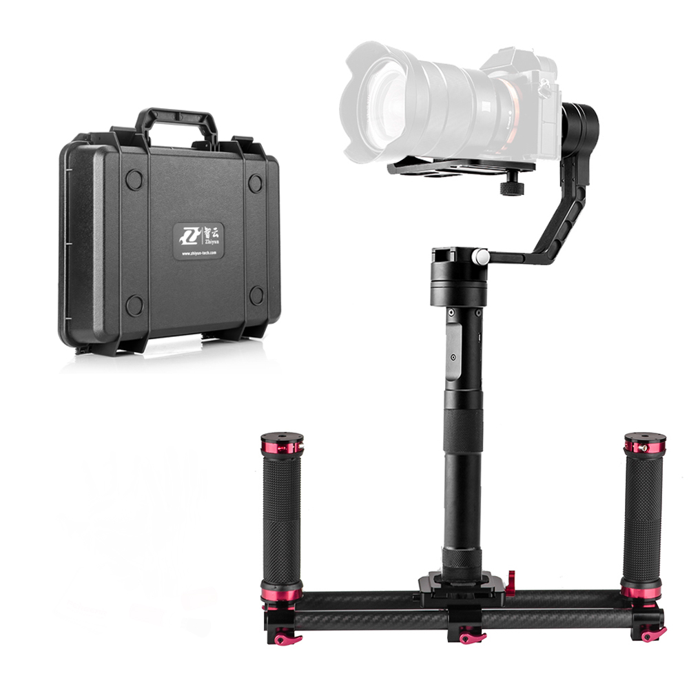 Zhiyun Crane 3 Axis Brushless Handheld Gimbal Stabilizer with Pergear Cleaing Kit for Mirrorless Cameras A7 A7II A7R A6300... z1 smooth ii 3 axis brushless handheld gimbal stabilizer for smartphone handheld within 6 5 screen