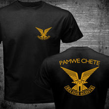 New Men Women Black T Shirt Rhodesian Zimbabwe Army Selous Scouts Chete  Logo Special Forces printed 8f4b8522a
