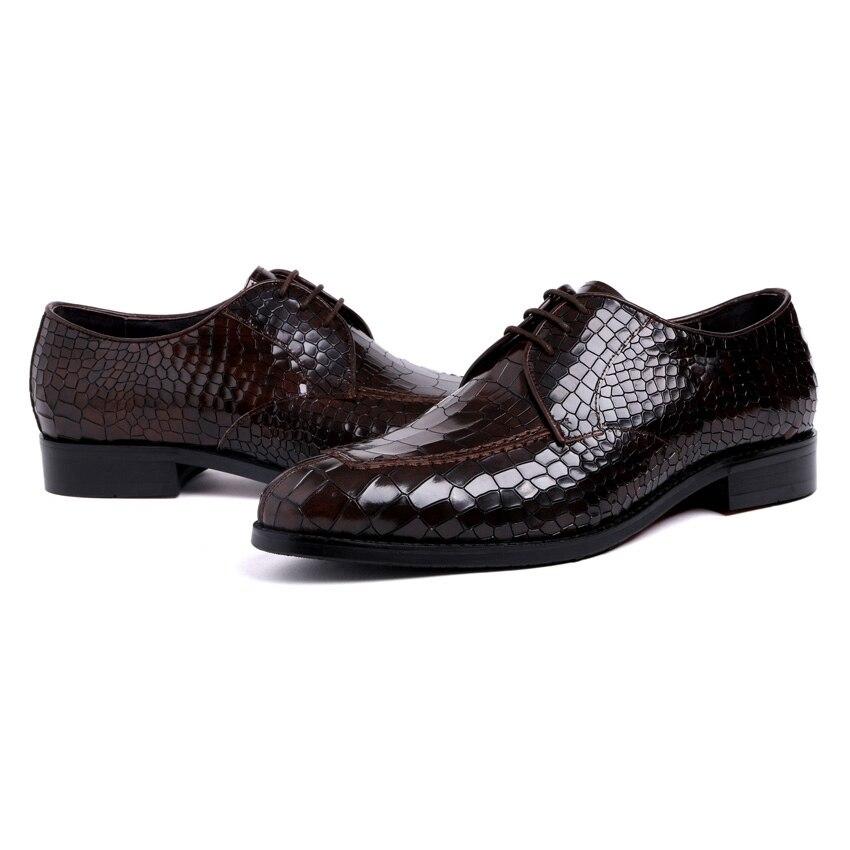 Genuíno Rodada Festa Luxo Homem Casamento Formal Preto Calçado Toe Escritório Artesanal Vestido Couro Homens Derby marrom Dos Ymx416 Shoes De Qualidade Alta zawq5