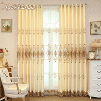Helen Curtain European Design Milk Curtains For Living Room Luxury Embroidered Sheer Curtain For Bedroom Window