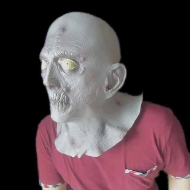 Máscara alienígena Con Menos Pelo Realista Macka Creepy Látex de Caucho Para Adultos Fiesta de Halloween Espeluznante Máscara de Cabeza de
