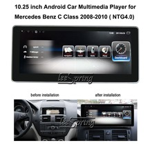 10.25 inch Car Multimedia Player for Mercedes Benz C Class 2008-2010 W204 C200 C260 C180 Car GPS Navigation Android 7.1 цена в Москве и Питере