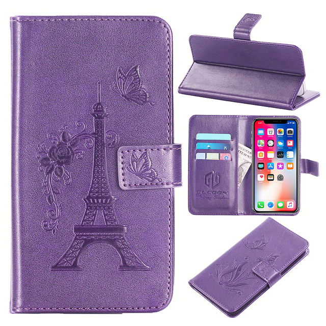 quality design 936c4 fe43d US $3.99 20% OFF|Aliexpress.com : Buy GUCOON Embossed PU Leather Case for  LG Rebel 3 5.0inch Eiffel Tower Flowers Butterfly Flip Wallet Cover from ...