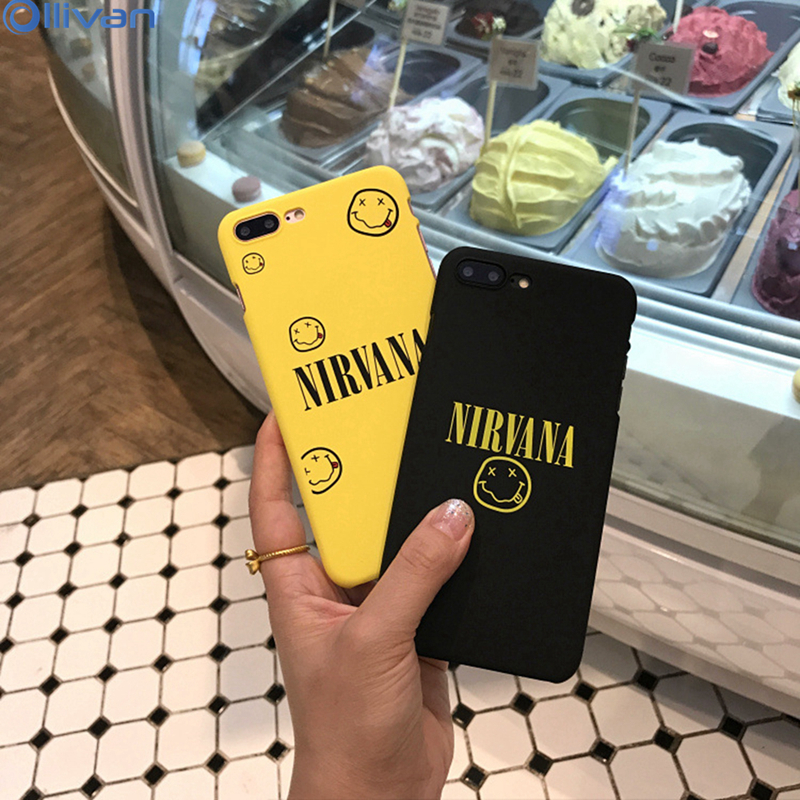 OLLIVAN Letter Funny Case Coque For iPhone 7 Case Cover Smile Nirvana 360 Degree Protector For iPhone X 6 6S Plus 7 8 Plus Case
