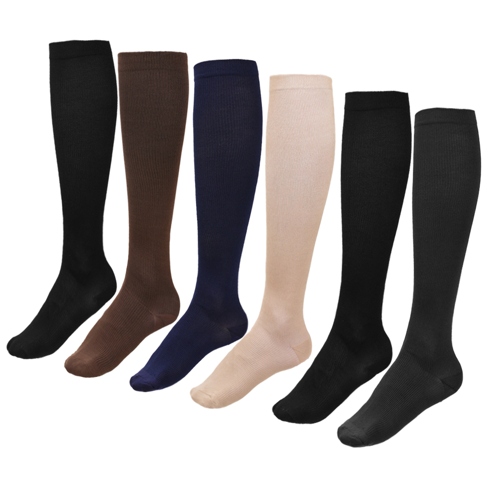 APG Fashion Life Store  Miracle Socks 15-23mmHg Compression Socks 6 Pairs Anti Fatigue Compression Stockings Calf Support Relief Pain for Women Men