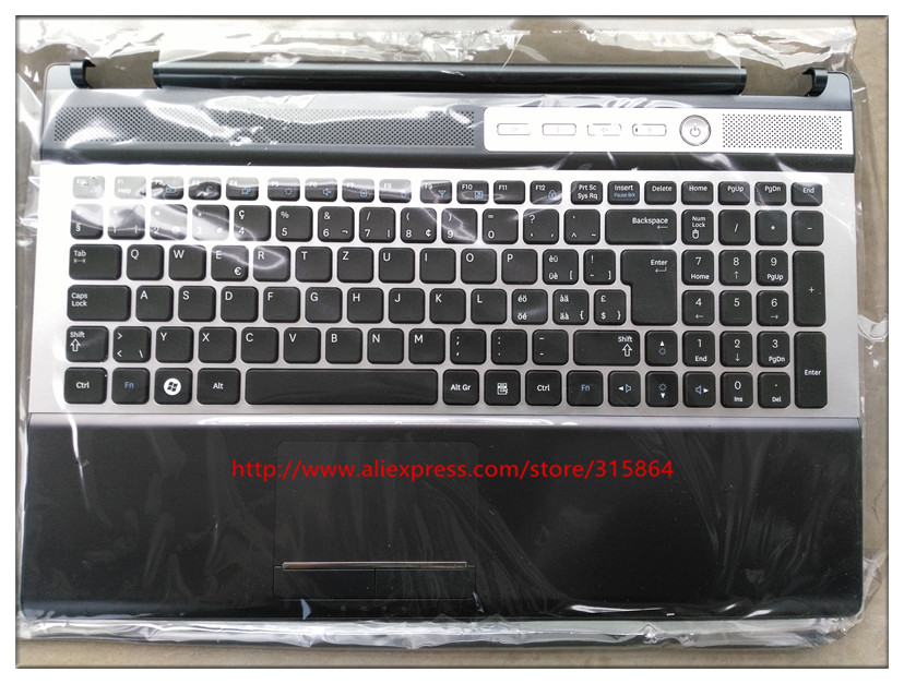 SWISS layout new laptop keyboard with touchpad palmrest for Samsung RF511 RF510 BA75-02676M ru latin layout backlit new laptop keyboard with touchpad palmrest for samsung rf712 ba75 03150k