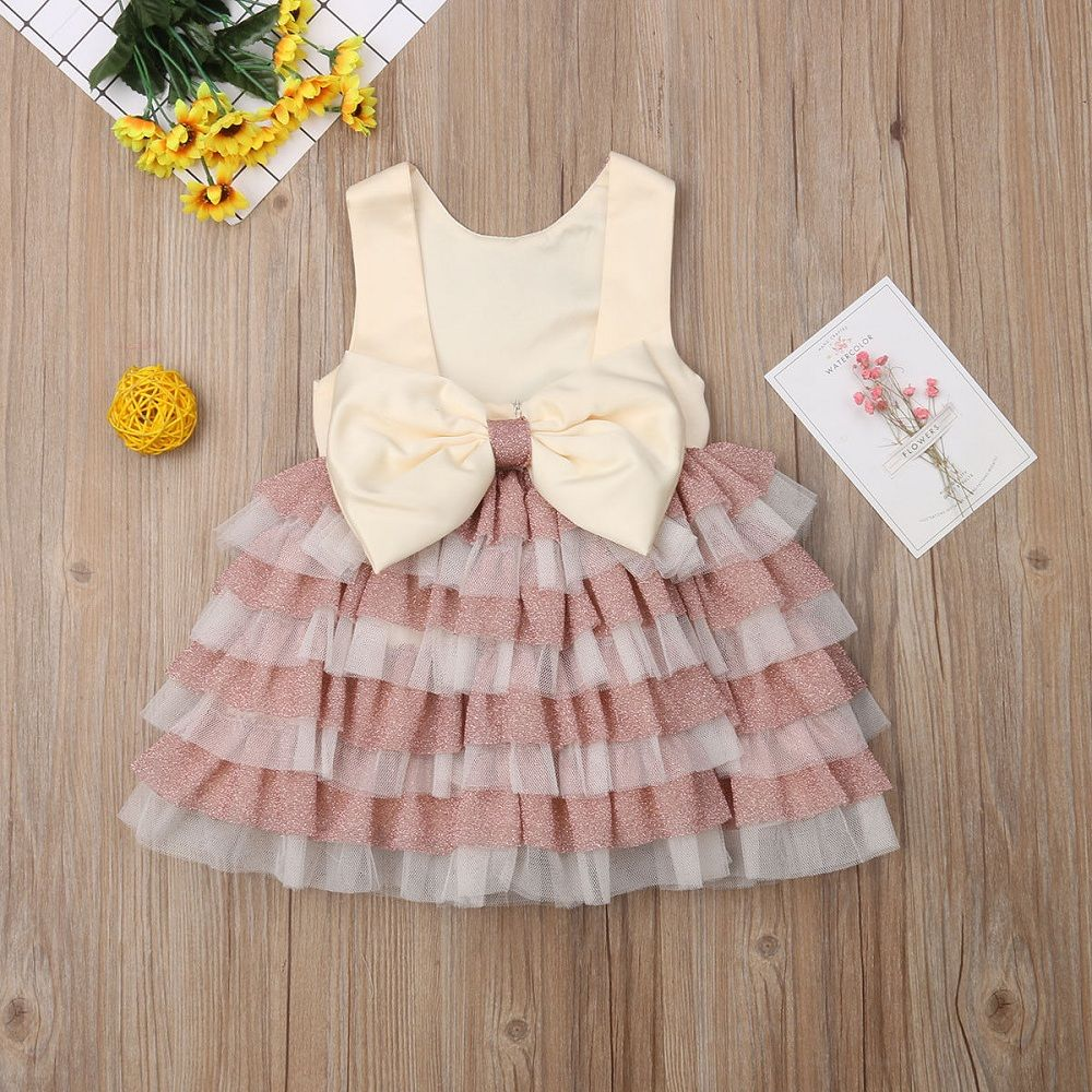 Baby Girls Kids Wedding Dress Girl Dress Princess Party Pageant Formal Dress Back Bow Sleeveless Lace Tulle Ball Gown G513 in Dresses from Mother Kids
