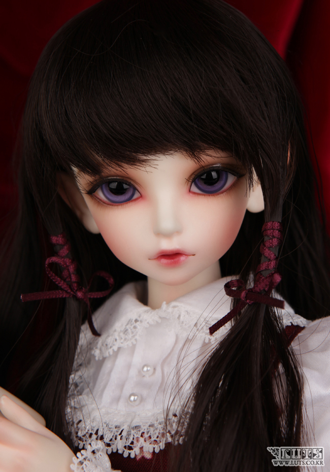 FULL SET wig clothes shoes face makeup&eyes all included! luts Kid Delf KIWI top quality 1/4 bjd girl doll cute art best gifts 1 6 scale bjd lovely kid sweet baby cute nana resin figure doll diy model toys not included clothes shoes wig