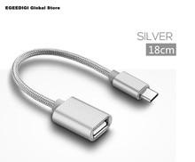 EGEEDIGI USB C Adapter OTG Cable Type to 3.0 2.0 Thunderbolt Type-C for Samsung One Plus MacBook