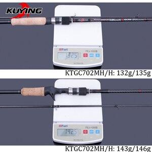 Image 5 - KUYING 2.1Mการแข่งขันคู่เคล็ดลับMH H Hard Casting Spinning Lure Fishing Rodคาร์บอนไฟเบอร์Cane Pole Stick Medium fast 7 28G