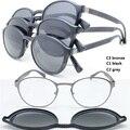 Atacado 9912 TR90 quadro vidros ópticos de metal quadrado com megnatic clip on removível lente polarizada óculos de sol