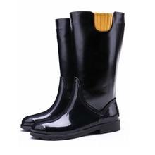 TONGPU New Arrival Women's Autumn Fashion Knee-High PU Leather Boots Waterproof Rain Boots 253-634