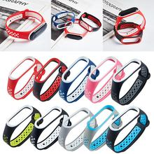 Hot Sale Dual Color Silicone Replacement Wristband Watch Band Strap For Xiaomi 4/3 MiBand 4 Mi 3 Smart Bracelet