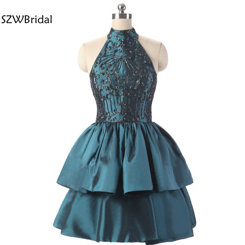 New Arrival High Neck Taffeta   Cocktail     dresses   2019 vestidos de coctel ever pretty Jurken vestido de noiva   Cocktail     dress