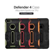 7 Più Il Caso di Nillkin DEFENDER 4 Di Lusso TPU + PC Hybrid Slim Armatura Coque Per Apple iPhone 7/7 Plus Casse Del Telefono copertura