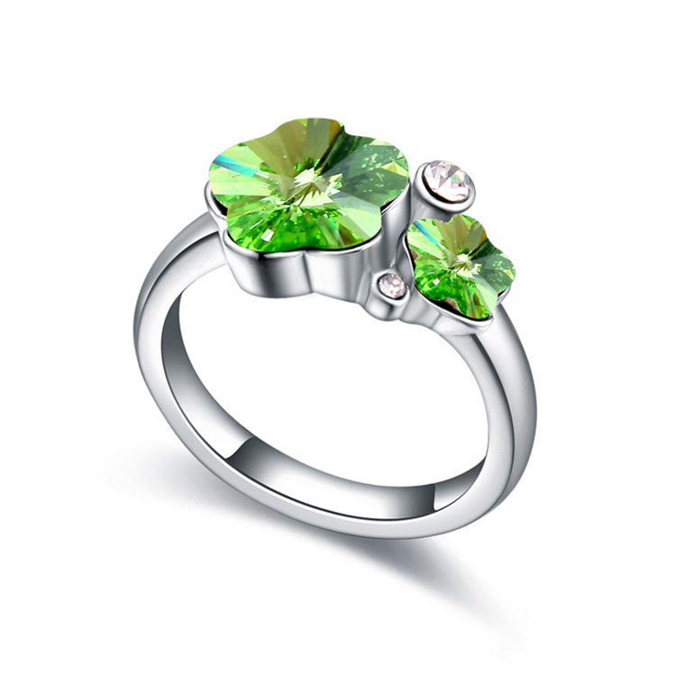 Cute Ring Made With Swarovski Elements Crystal For Women Wedding Rings Bague Bijoux His And Hers Promise Ring Sets Gold Color