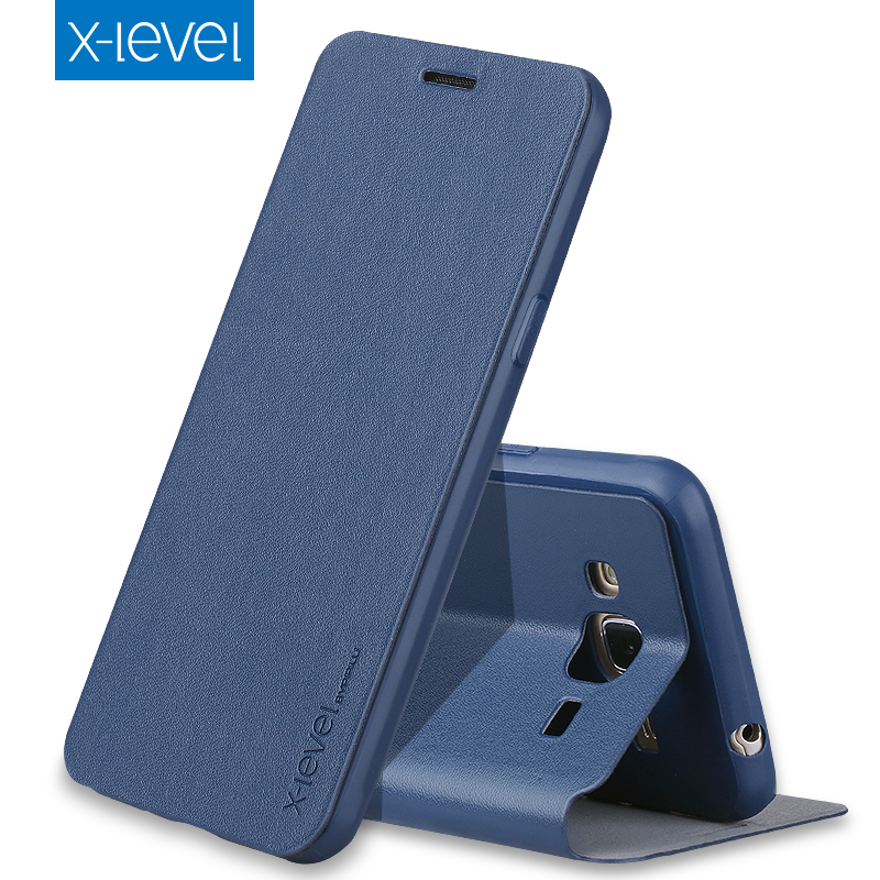 X Level Luxury Business PU Leather Case for Samsung Galaxy J3 2016 j320 Flip Cover for