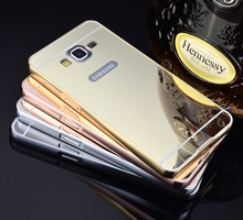 G5308 Дело Роскошный Алюминиевый Металл Зеркало Покрытие Жесткий Задняя Крышка для Samsung Galaxy Grand Prime G530 SM-G531F
